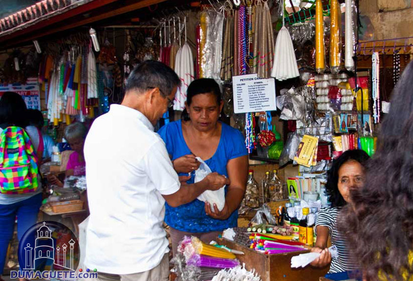 Candle Vendors at Dumaguete Cathedral