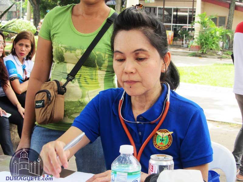 Dumaguete City Health Head Officer Dr Maria Sarah Talla