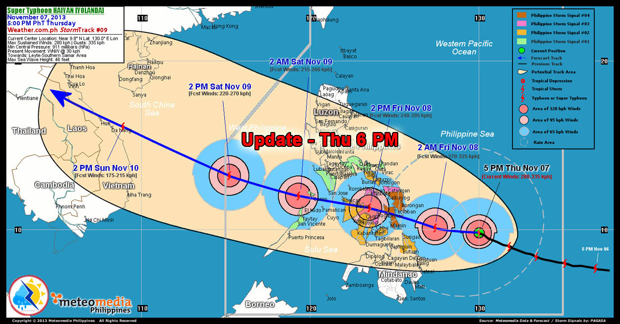 Haiyan-update-thu-6-pm