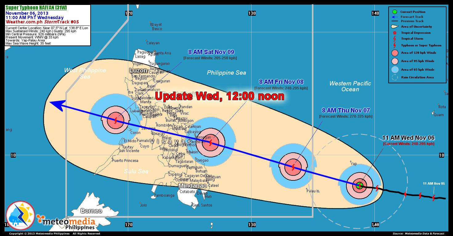 Haiyan yolanda update wednesday -15am