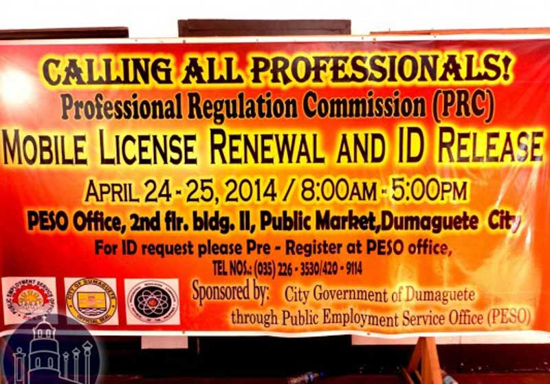 PRC Mobile License & ID Release in Dumaguete