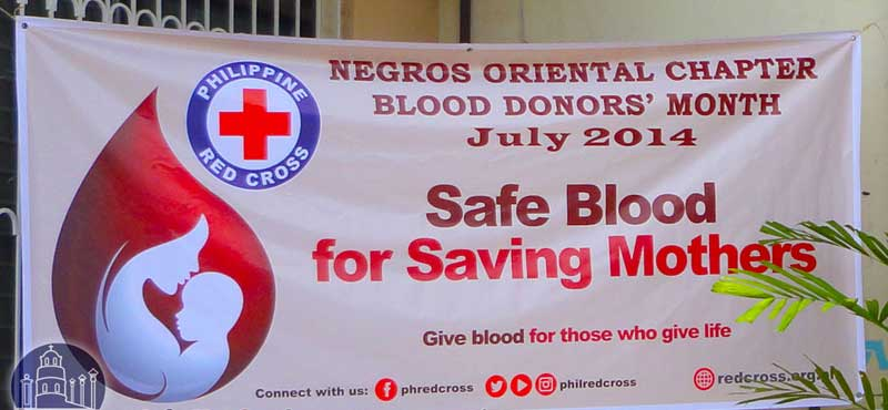 Red Cross Banner July Month Blood Donation