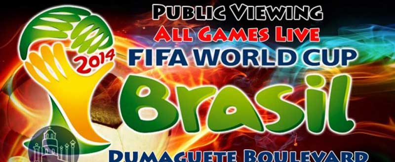 worldcup Brazil View at Dumaguete Boulevard