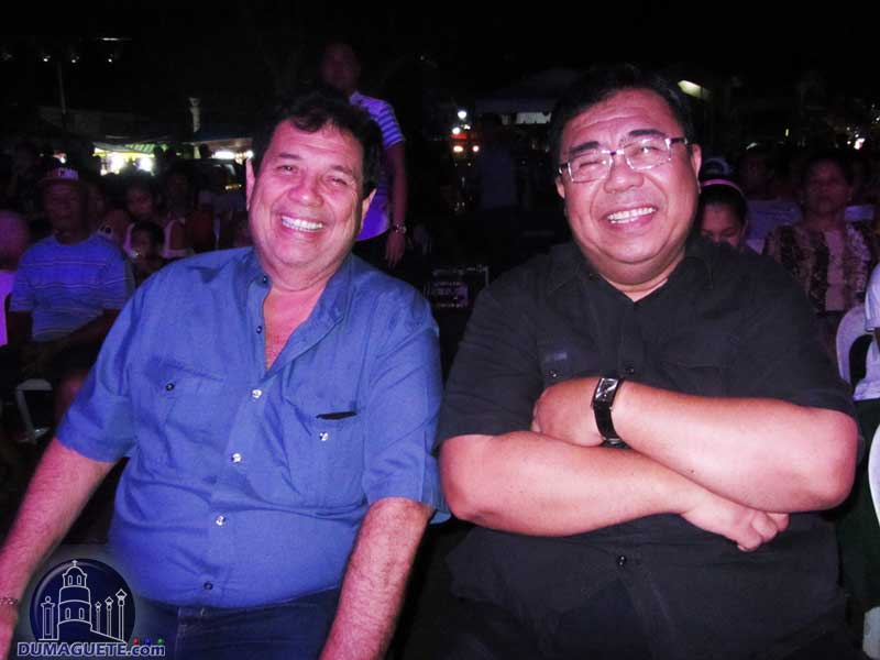 Dumaguete Mayor Manuel Teves Sagarbarria and Mr Ben Malayang III Silliman University 12th President