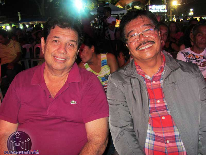 Mayor Manuel Teves Sagarbarria and Vice Mayor Woodrow Maquiling at the Sandurot Festival 2014 - Folkdance Competition
