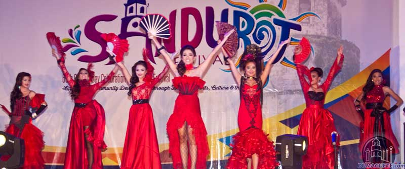 Miss Dumaguete 2014 Talent Night on their Flamingo Custume