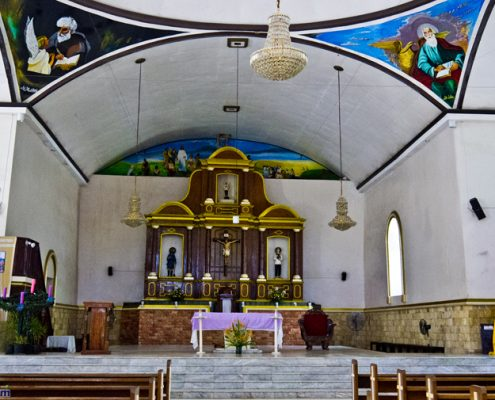 Zamboanguita municipal church altar