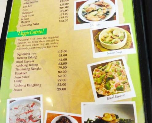 Menu Hukad Restaurant