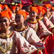 Sibulan yag-yag festival street dancing scene