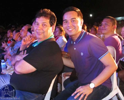 Dumaguete Mayor Manuel Sagabarria and Woodrow Maquiling Junior