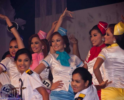 Miss Dumaguete contestant on their Production Number