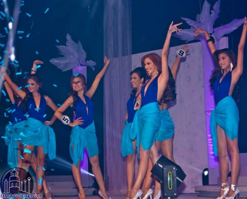 Miss Dumaguete Contestant on their Swim suit