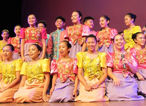 Mandaue Choir Christmas carol in Dumaguete