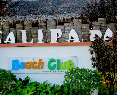 bayawan city talipapa bikini beach bar sign board