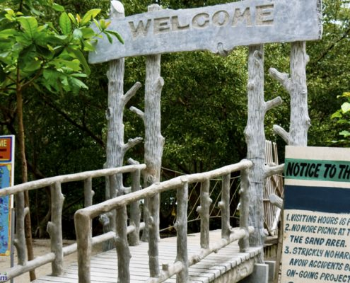 Tanjay City Negros Oriental Board Walk entrance