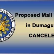 Dumaguete - Mall voting canceled