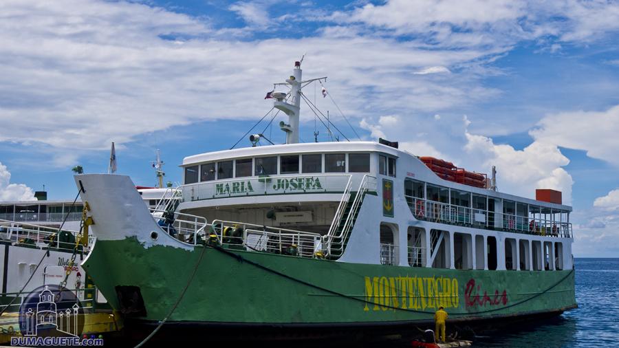Dumaguete Sea Port Montenegro Lines Ferry Maria Josefa big Boat