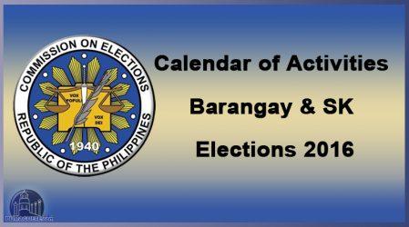 Sangguniang Kabataan and Barangay Elections 2016