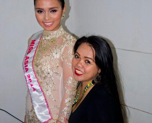 Miss Asia 2016 Trixia Marie Maraña and Rechel Serona of DINS