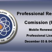 Renewal of Professional Licenses - PRC