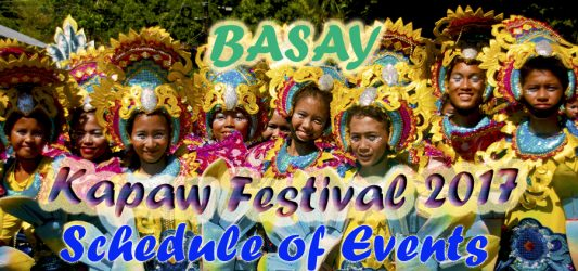 Kapaw Festival 2017-Basay- Schedule