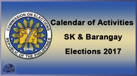COMELEC Road Map for Barangay Election 2017
