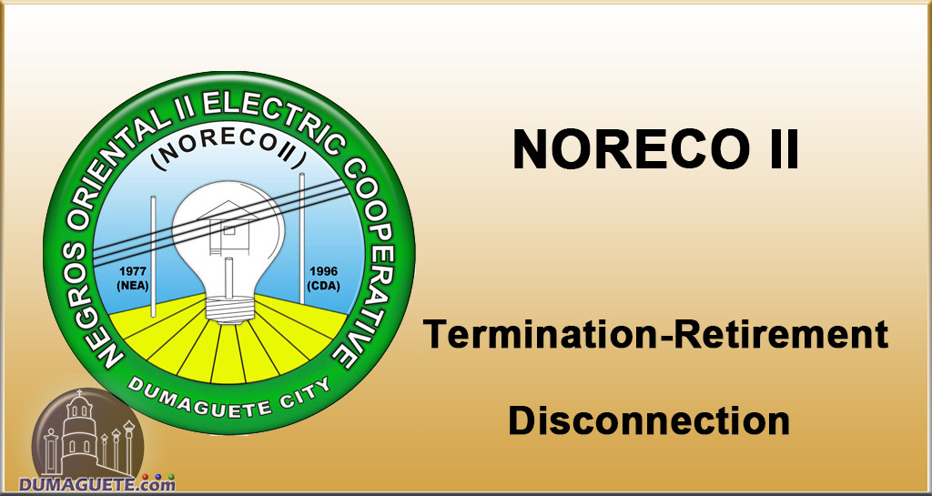 NORECO II - Disconnection Termination of Electric Services