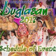 Buglasan 2017 - Schedule of Events