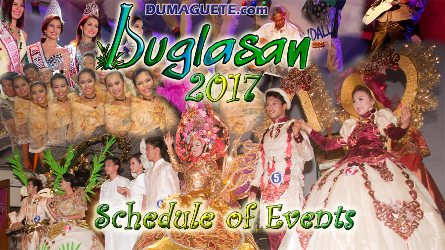 Buglasan 2017 - Schedule of Events
