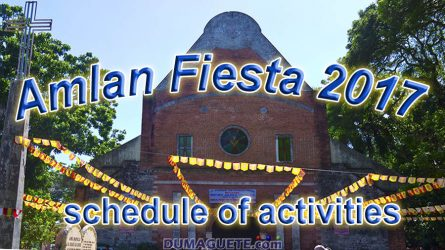 Amlan Fiesta 2017 – Schedule of Activities