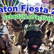 Siaton Fiesta 2017 - Schedule of Activities