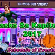 Pasko sa Kapitolyo 2017 - Schedule of Events