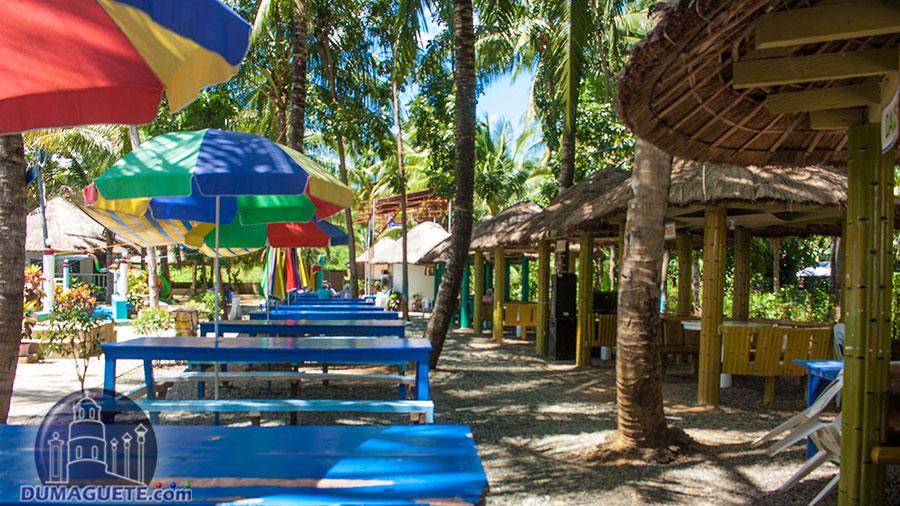 Bayawan City -Aqua Fun Resort - Tables and Cottages