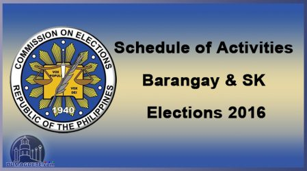 COMELEC Barangay Election and SK 2018