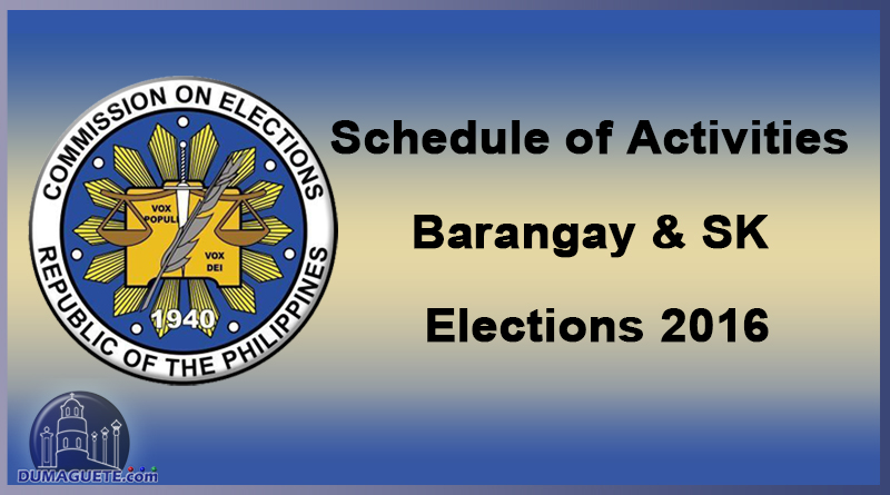 COMELEC Barangay Election and SK 2018
