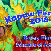 Kapaw Festival 2018 - Basay Fiesta - Schedule of Activities