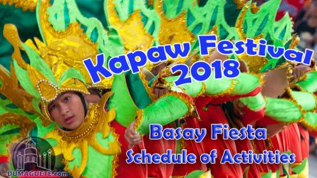 Basay Fiesta & Kapaw Festival 2018 – Schedule of Activities