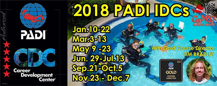 PADI IDC schedule