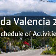 Chada Valencia 2018 - Valencia - Negros Oriental - Schedule of Activities