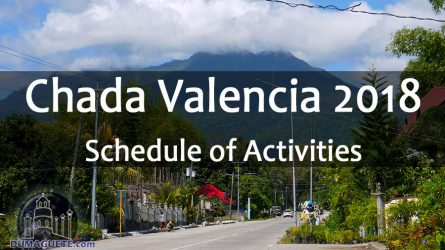 Chada Valencia 2018 – Schedule of Activities