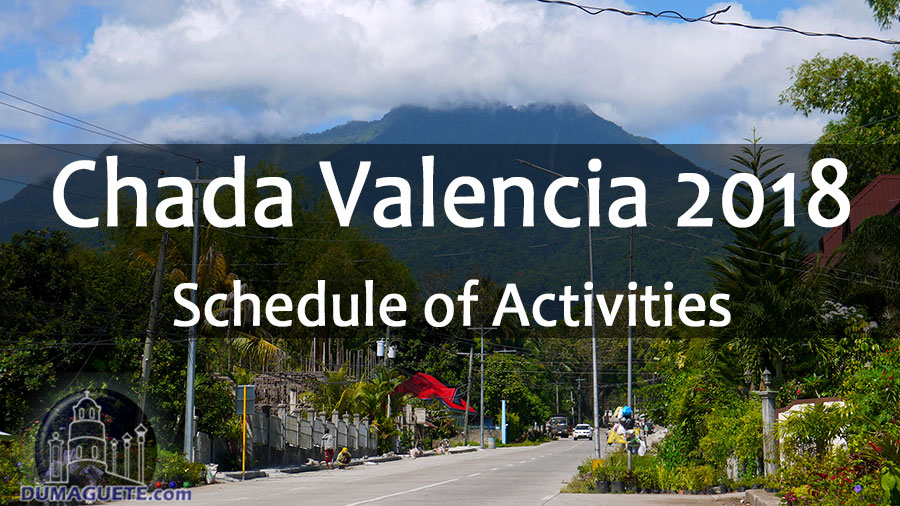 Chada Valencia 2018 - Valencia - Negros Oriental - Schedule of Activities