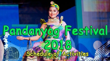 Pandanyag Festival 2018 Schedule of Activities