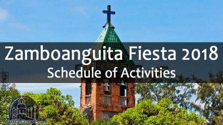 Zamboanguita Fiesta 2018 – Schedule of Activities