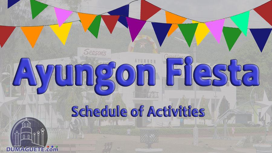 94th Ayungon Fiesta 2018 Schedule of Activities