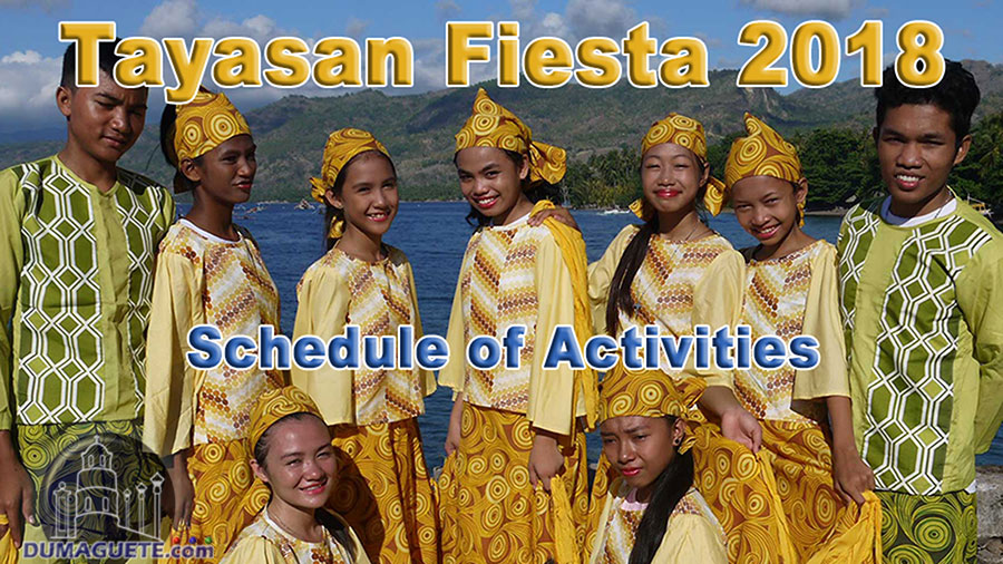 Tayasan Fiesta 2018 - Schedule of Activities - Negros Oriental