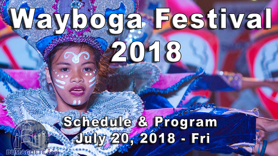 Wayboga Festival 2018 - Schedule of Program