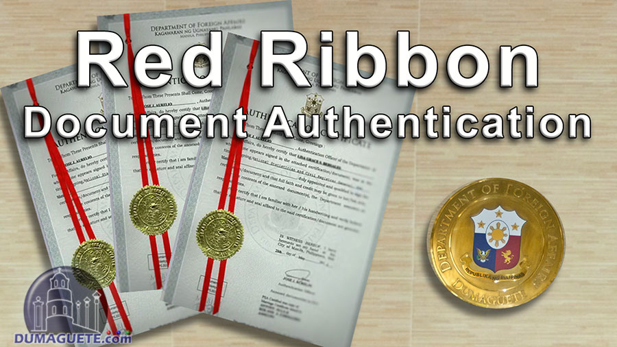 Red Ribbon - DFA Document Authentication
