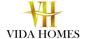 Vida Homes Logo - white glow