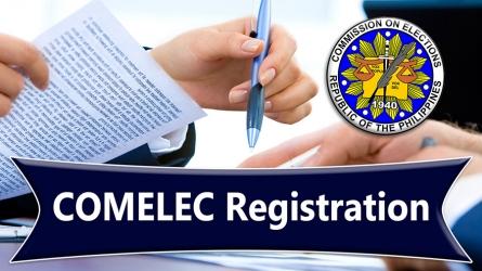 Barangay COMELEC Registration – Schedule 2018