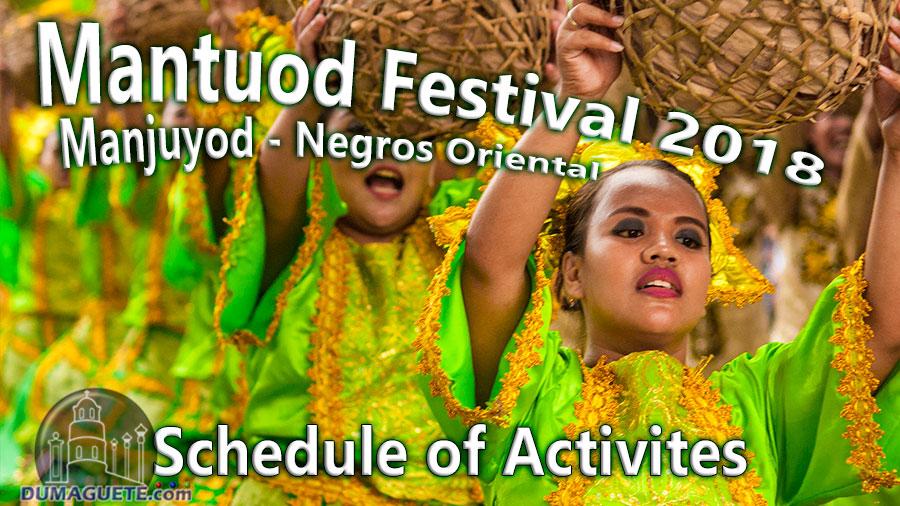 Mantuod Festival 2018 - Schedule of Activites